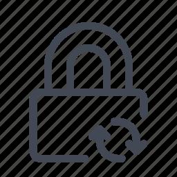 padlock, saving, syncing icon