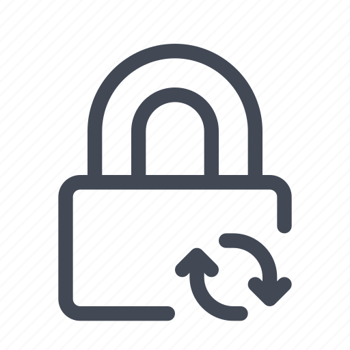 Padlock, saving, syncing icon - Download on Iconfinder