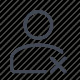 account, avatar, member, person, profile, remove, user icon