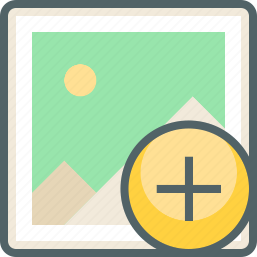 add, create, gallery, image, new, photo, plus icon
