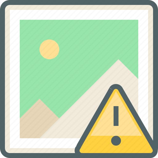 alert, caution, damage, gallery, image, photo, waring icon