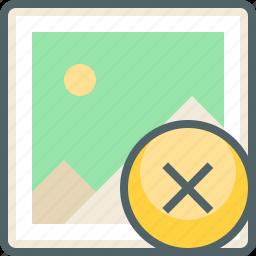 cancle, close, delete, image, photo, picture, remove icon