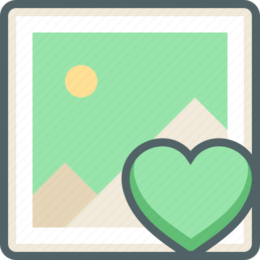 bookmark, favorite, gallery, heart, image, love, photo icon