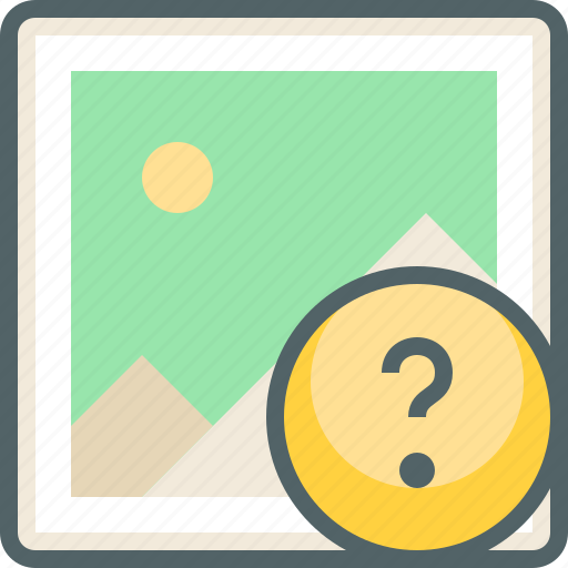 gallery, help, image, photo, question, service, support icon