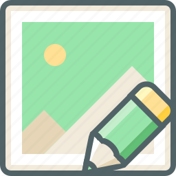 draw, edit, gallery, image, pencil, photo, write icon