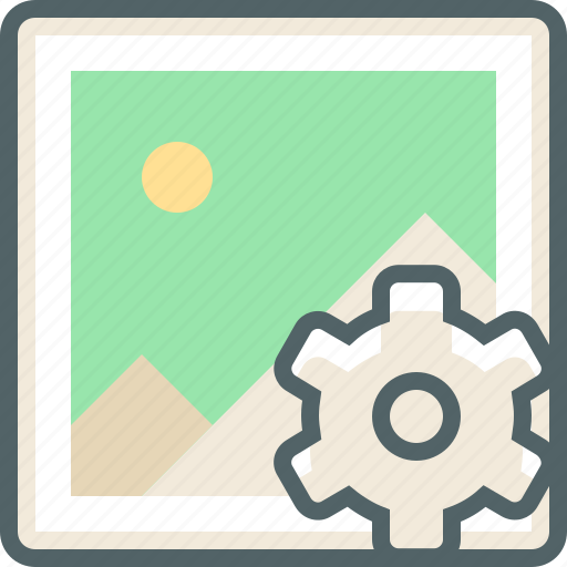 configuration, gallery, image, options, photo, preferences, setting icon