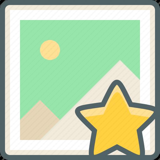 achievement, bookmark, favourite, image, like, photo, star icon
