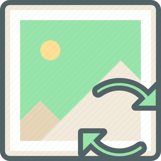 gallery, image, network, photo, photos, reload, sync icon