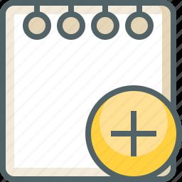 add, create, document, new, note, paper, plus icon