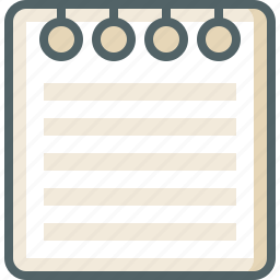 document, list, menu, note, page, paper, sheet icon