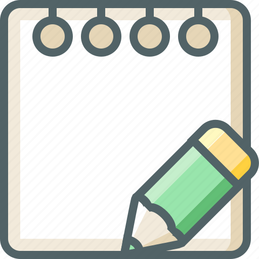 document, draw, edit, note, paper, pencil, write icon