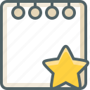 achievement, bookmark, favourite, like, note, paper, star icon