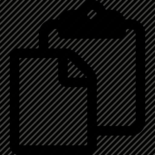clipboard, copy, cut, file, paste, survey icon