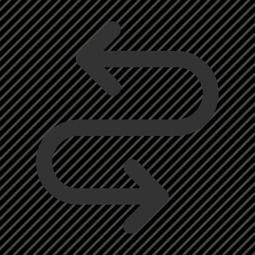 arrows, direction, exchange, move, remix, suffle, swap icon
