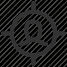 account, avatar, login, person, profile, target, user icon