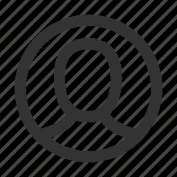 account, avatar, circle, login, person, profile, user icon