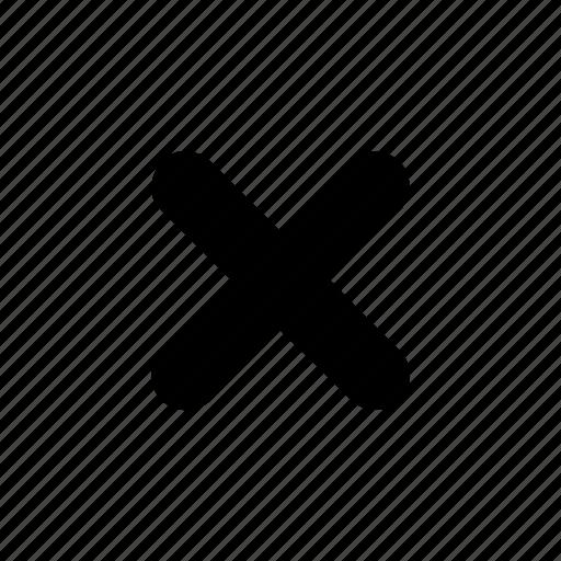 close, cross, error, exit, problem, stop icon