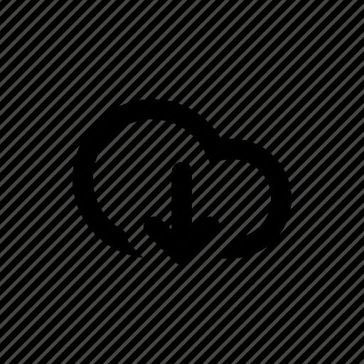 arrow, cloud, download, guardar, save icon
