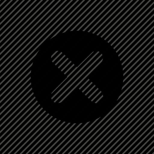 cancel, close, cross, danger, error, exit, problem icon