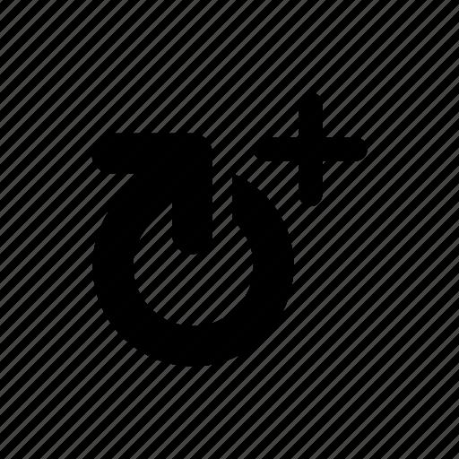 arrow, increase, plus, refresh icon