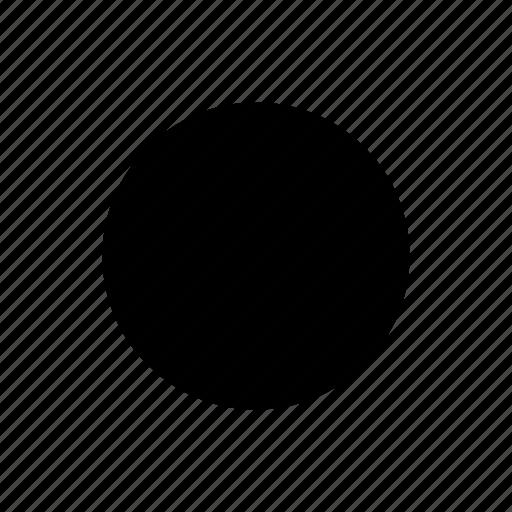 circle, filled, radio, ui icon