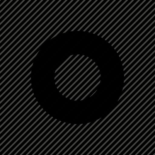 circle, empty, radio, ui icon