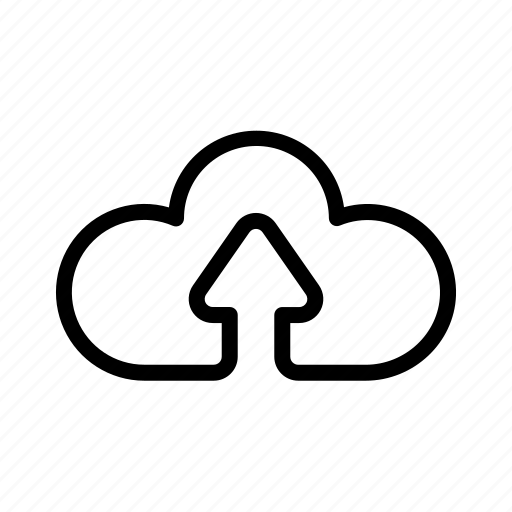 cloud, computing, line, ui icon icon