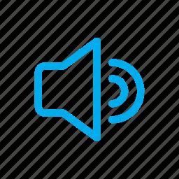audio, line, sound, ui icon