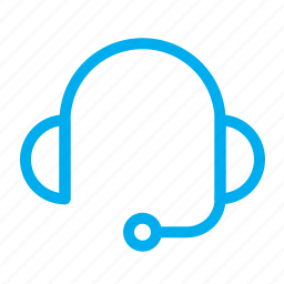 audio, headphone, headset, line, ui icon