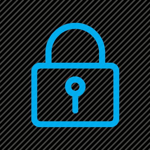 line, lock, security, ui icon