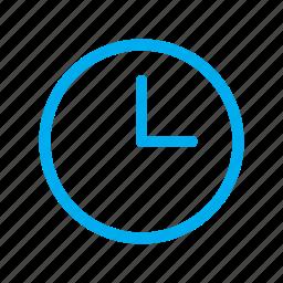 clock, line, time, ui icon