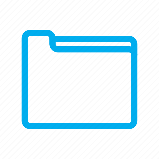 folder, line, ui icon