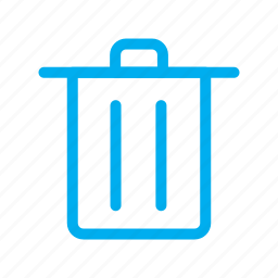 garbage, line, trash, ui icon