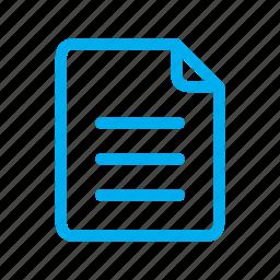 document, file, line, ui icon