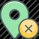 delete, location, cancle, close, direction, navigation, remove