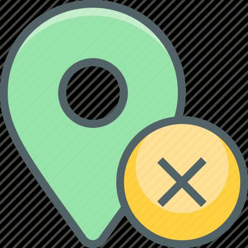 cancle, close, delete, direction, location, navigation, remove icon