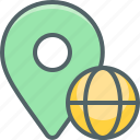 country, direction, global, location, national, navigation, world icon