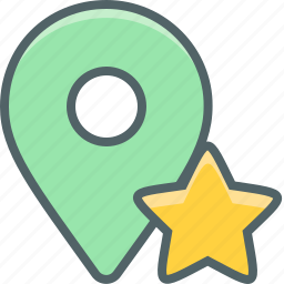 award, bookmark, direction, favorite, location, navigation, star icon