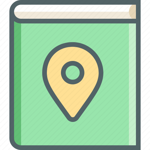 book, direction, gps, location, map, navigation, notebook icon