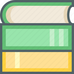 book, education, knowledge, learning, reading, stack, student icon