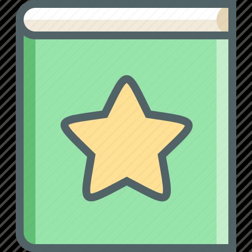achievement, award, book, bookmark, favourite, notebook, star icon
