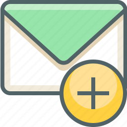 add, create, email, inbox, mail, new, plus icon
