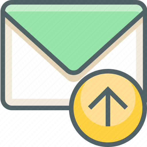 arrow, direction, email, inbox, mail, up, upload icon
