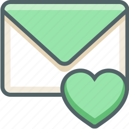 bookmark, email, favorite, heart, inbox, love, mail icon