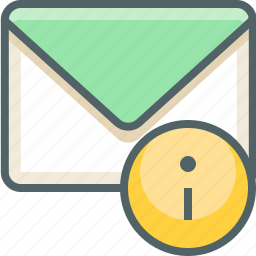 email, inbox, info, information, mail, message, support icon