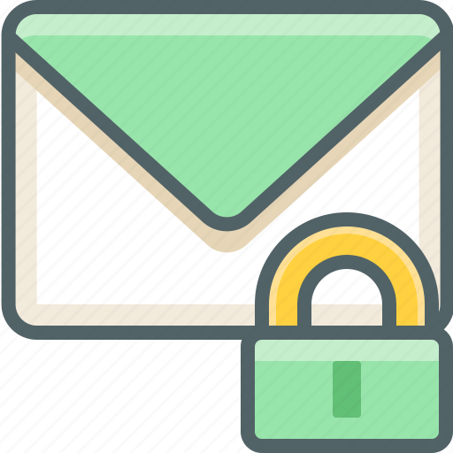 email, inbox, lock, mail, protection, safe, secure icon