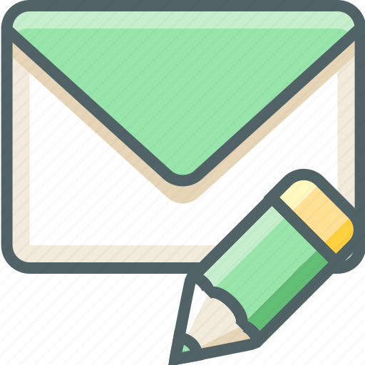 edit, email, inbox, letter, mail, pencil, write icon