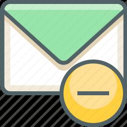 close, delete, email, inbox, mail, minut, remove icon