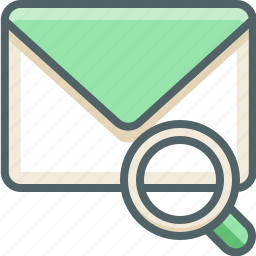 email, find, glass, inbox, magnifier, mail, search icon