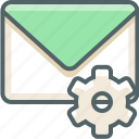 configuration, email, inbox, mail, options, preferences, setting icon